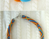 Seed bead necklace Bead crochet rope Native American necklace Ethnic necklace Folk jewelry Beadwork necklace >>>Will MAKE FOR ORDER<<<
