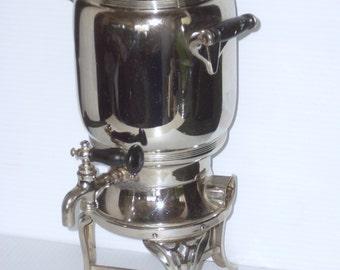 Antique Coffee Percolator Vintage Landers Frary & Clark 1912 Universal No E9136 Coffee Maker Pot Glass Top Spigot Spout Fancy VASE (AS IS)