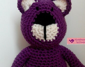 purple pull-string teddy