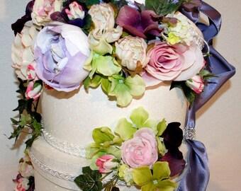 WEDDING, Floral Wedding Card Box, Unique Wedding, Decorated Box With Flowers, Elegant Wedding, Formal Reception, Wedding Decor, Reception