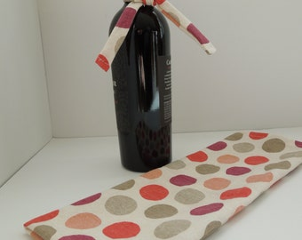 Polka Dotted Wine Gift Bag