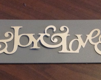 Peace-Joy-Love  -- Join in the Cheer  - Sizzix/Stampin' Up! - Decorative Strip/die