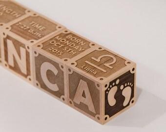Personalized Wood Name Blocks
