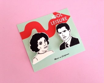 Twin Peaks Pin Set - Dale Cooper - Audrey Horne - Gift For Friends