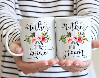 SALE Mother of the Bride Gift, Mother of the Groom Gift, Mug Set Gift for mom Mom Wedding Gift  Mother of the Groom Coffee Mug Wedding Gift,
