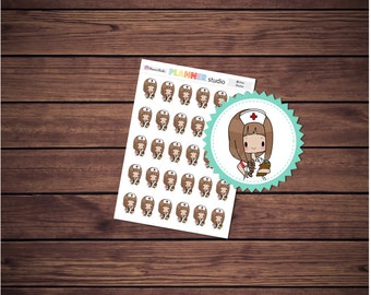 Nurse Healthcare Mi'Me Kawaii Chibi Girl Planner Stickers