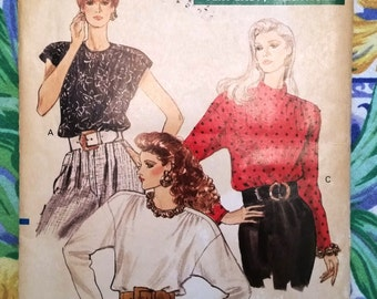Vogue 7415 Vintage Sewing Pattern from 1989, Misses Blouse, Very Easy Very Vogue, Size 12-14-16, Never Used