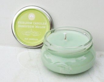 Honeydew Melon Scented Soy Candle - Birthday Gift - Gift for Her - Home Decor Gift - Best Friend Gift - Gift for Mom - Home Decor Candle