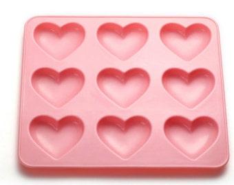 Shiny silicone Puffy heart mold