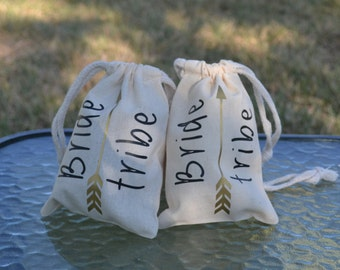Bridesmaid Gift, Bride Tribe Gift Bag, Bride Tribe, Personalized Bridesmaid gift bag,favor bag, bridesmaid favor bag, Bridal Party