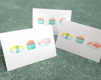 Stamped Sushi Cards