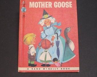 MOTHER GOOSE nursery rhymes vintage Rand McNally Tip Top Elf book Anne Sellers Leaf 1958 hardback VG!!