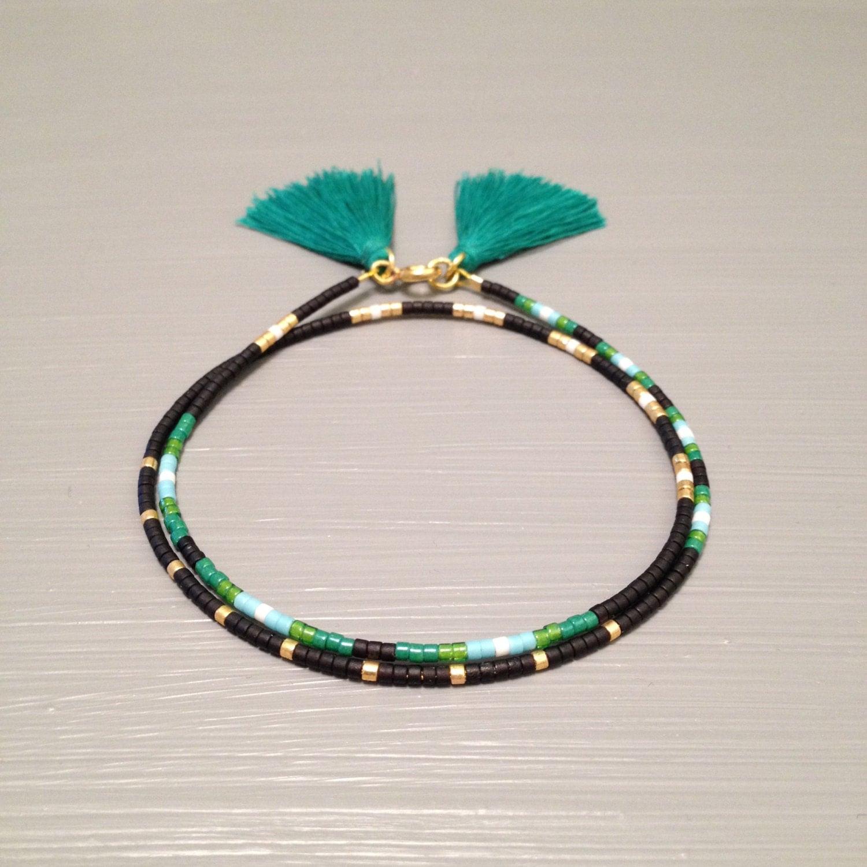 Beaded Charm Bracelets: Natural Bead Bracelet Beaded Friendship Bracelet Bead Wrap