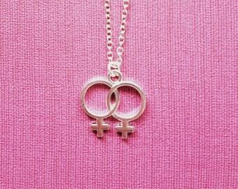 Double Venus Lesbian Necklace