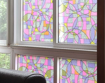 Mosaic Stained Glass Window Film