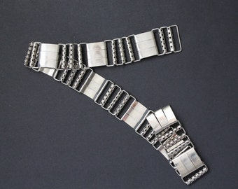Silver metal Belt / 80's / Xs-Small / vintage
