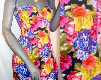Topshop floral print Bustier Corset Spaghetti Strap Above Knee Sun Dress 12/8