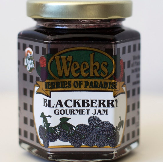 All Natural, Organic, Gourmet, Blackberry Jam - Utah's Own, Preserves, Jelly, Marmalade