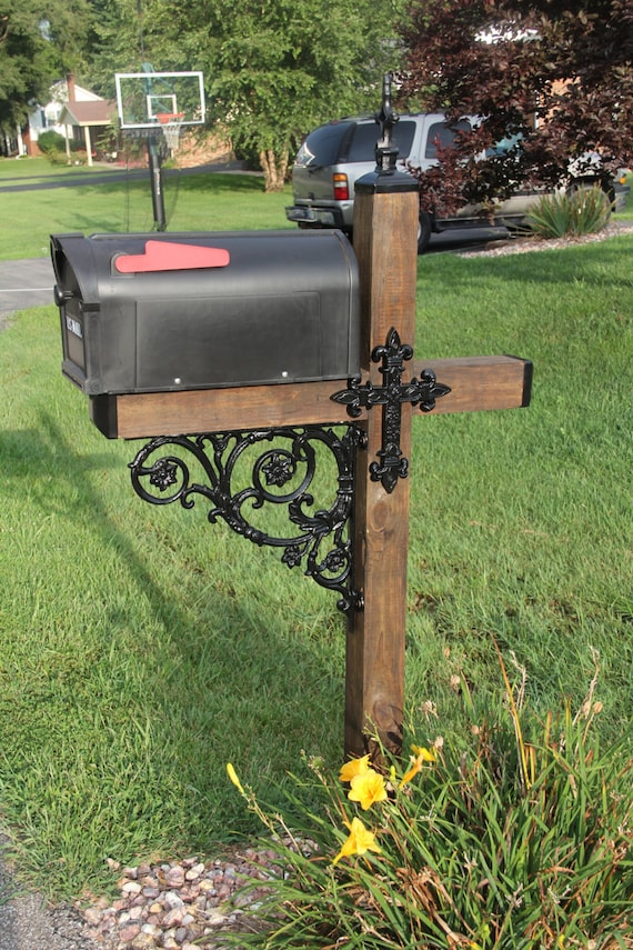 wrought iron mailbox post cross themed wrought iron mailbox dress up kit mailbox 1666