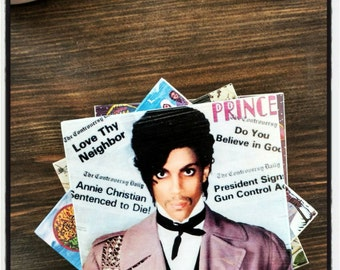 Prince Album Covers Stone Coasters, Purple Rain Tribute, Love Symbol, Handmade Stone Tile, cover art, 80s 90s pop rock guitar music artist