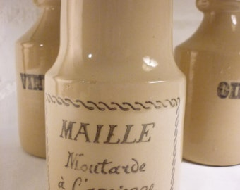 Vintage French Mustard Jar with Cork Lid - Moutarde a l'ancienne au vin blanc