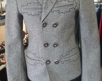 Vintage Austrian Trachtenmode Loden Blazer
