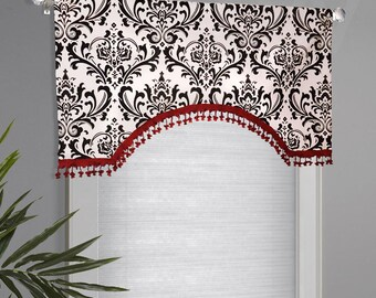 Premier Prints Traditions Black White Custom Valance