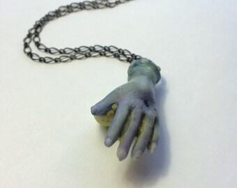 Ooak Zombie Hand Necklace