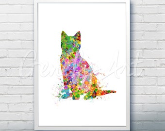 Cat Watercolor Art Print  - Watercolor Painting - Cat Watercolor Art Painting - Cat Poster - Home Decor - House Warming Gift [3]