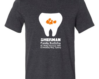 Disney Shirts Mens Finding Nemo Shirt P. Sherman  Disneyland Shirt Disney World Shirt Sherman Family Dentistry Disney Cruise Shirt