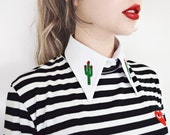 Cactus Detachable Embroidered Peter Pan Wednesday Addams Fake Collar Patch