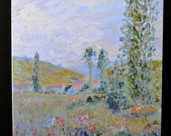 Monet Study  - Blank Notecards - From Original Oil Painting (set of 10)
