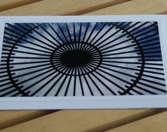 Photo Greeting Card   Photography Card Blank Card   Photo Note Card   Vizcaya Garden   Florida   Garden   Blue Sky Clouds   5x7   8x12