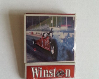 Vintage, Winston, Cigarette, MatchBook, No Bull, No Boundaries, Winston Cigarettes, Advertising, Match Book, Matches, Racing, Dragsterr