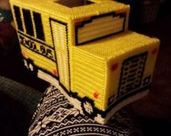 School Bus tissue box holder