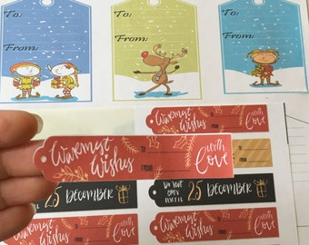 Holiday Gift labels / stickers 60 Qty. Christmas Gift labels, Peel and stick gift labels / stickers