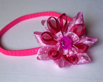 Princess Pink Flower Headband