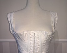 Regency Short Stays in Linen, Costume, Georgian, Jane Austen, Made to Measure