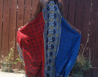 Khanga Maxi Halter Dress