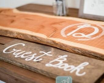 Guest Book - Wooden Sign - Wedding