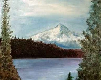 Crater Lake, Oregon, an original oil painting by Rick Fry. Free Shipping.
