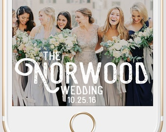 Rustic Hipster Script Wedding Snapchat Geofilter | Custom Personalized Instant Download | Birthday Filter | Bridal Shower Geofilter