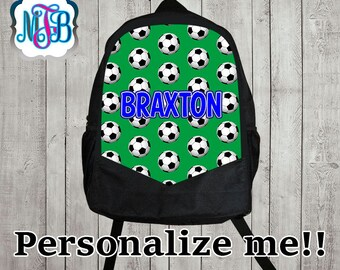 Personalized  Backpack/ Personalized Soccer backpack/School backpack/ Boys backpack//boys bookbag/girls backpack/Monogrammed backpack/B12