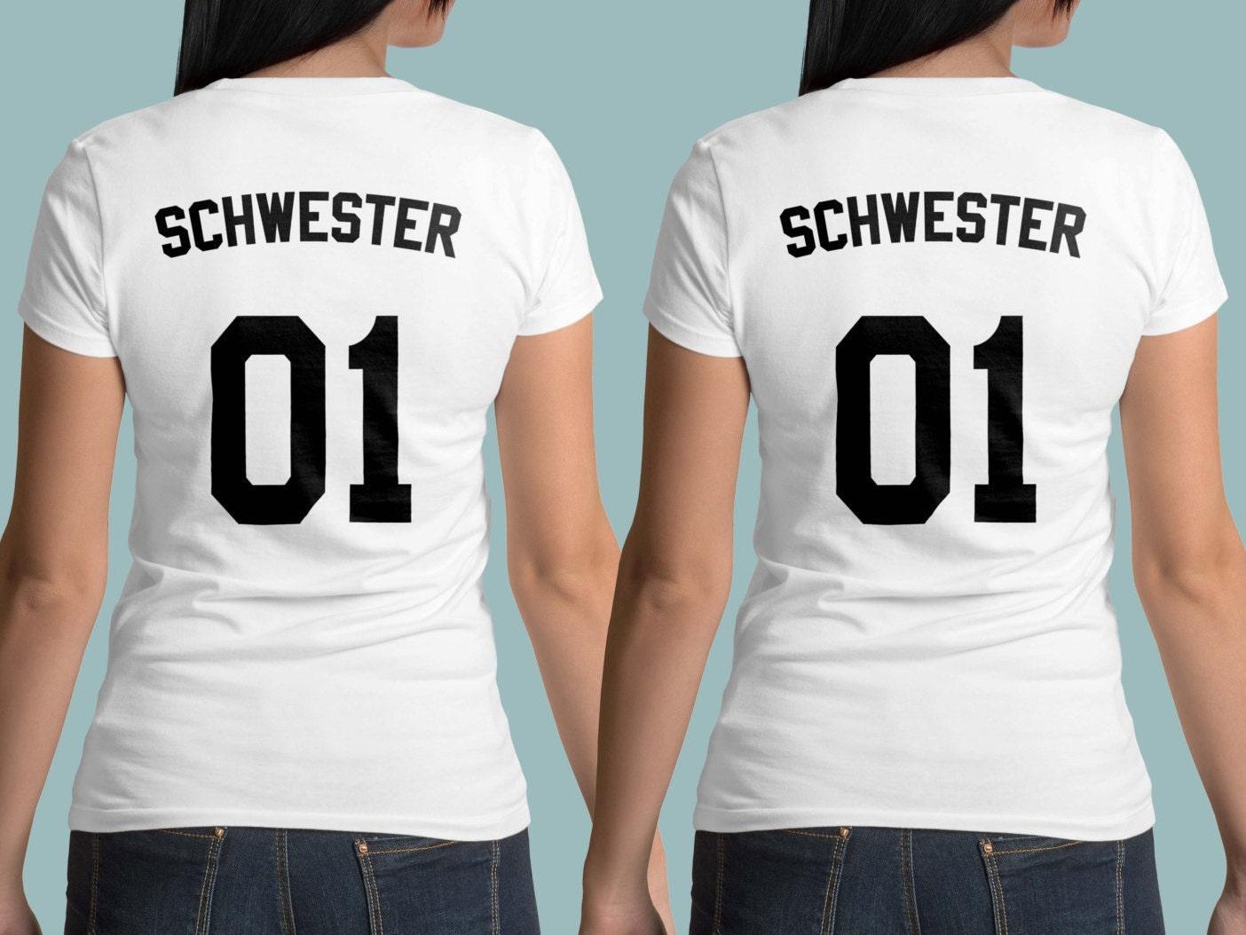 schwester t shirts sister 01 shirt geschwister shirts. Black Bedroom Furniture Sets. Home Design Ideas