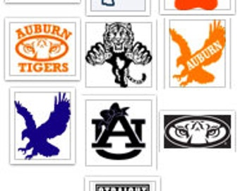 University of Auburn Tigers War Eagle Decal Lot SVG Cut Files Instant Download