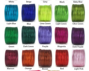 20 yards 1mm Satin Cord Bugtail Nylon Macrame Bracelet Cord