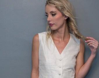 Women's Silk Tailored Vest - Custom Colors