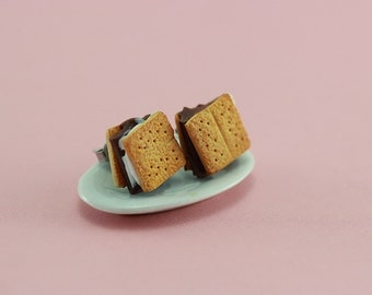 S'more  - Studs / Post Earrings