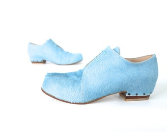 Free Shipping! Naked Slice Shoe in Duck Egg Pony