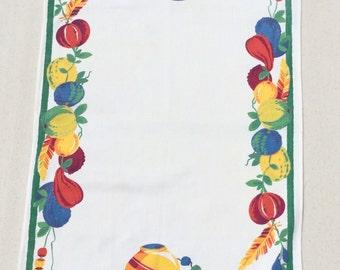 Vintage Wilendur Towel or Runner Mexican Fiesta Pottery & Gourds